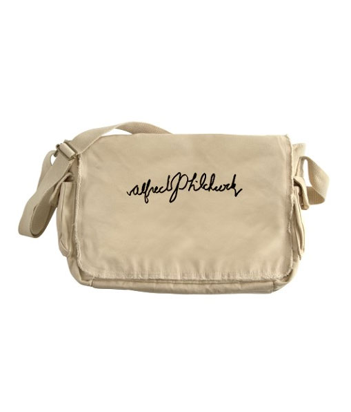 Alfred Hitchcock messenger bag