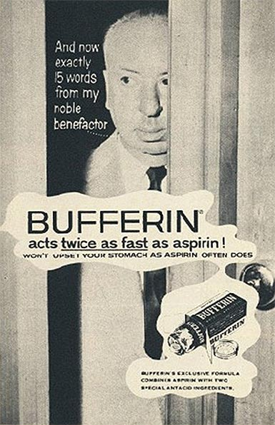 Bufferin acts twice as fast as aspririn!